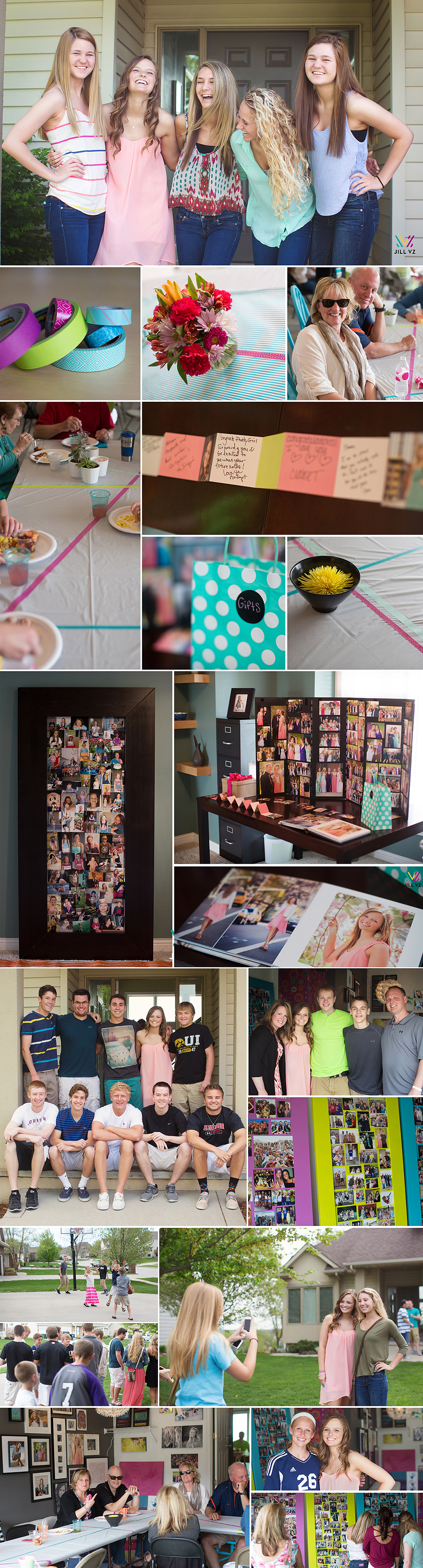 grad party ideas using washi tape