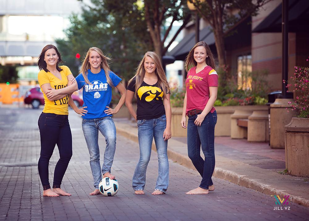 senior photos college shirts