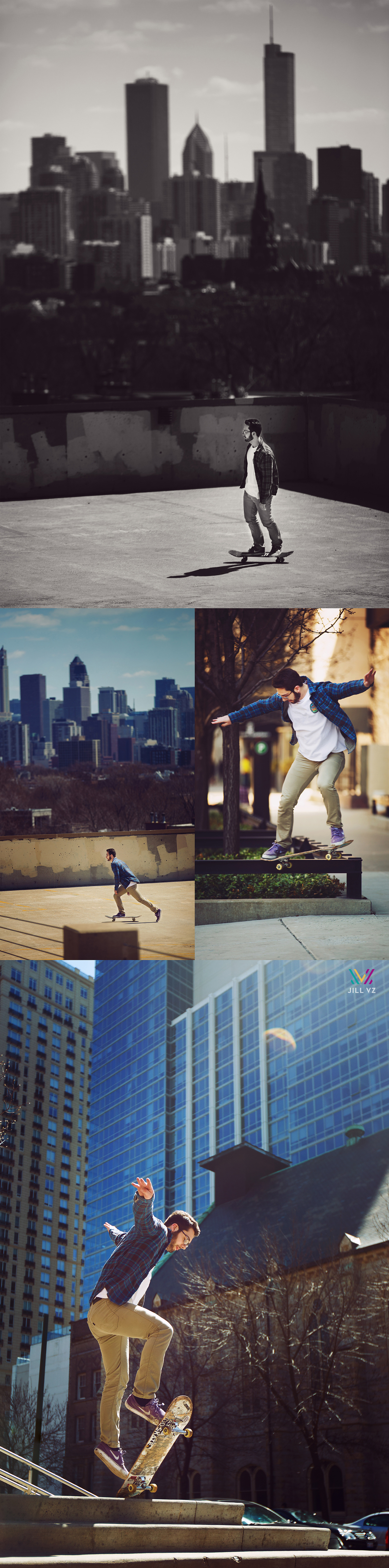 skateboarder photos downtown