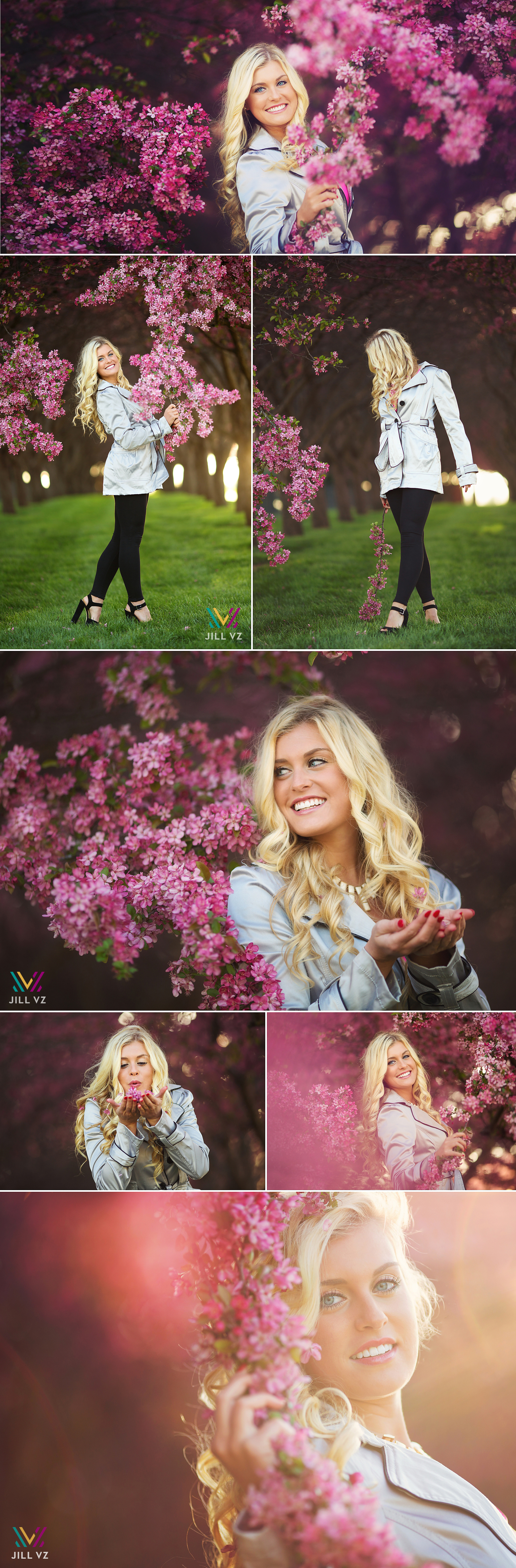 Johnston iowa senior photos in the flowers