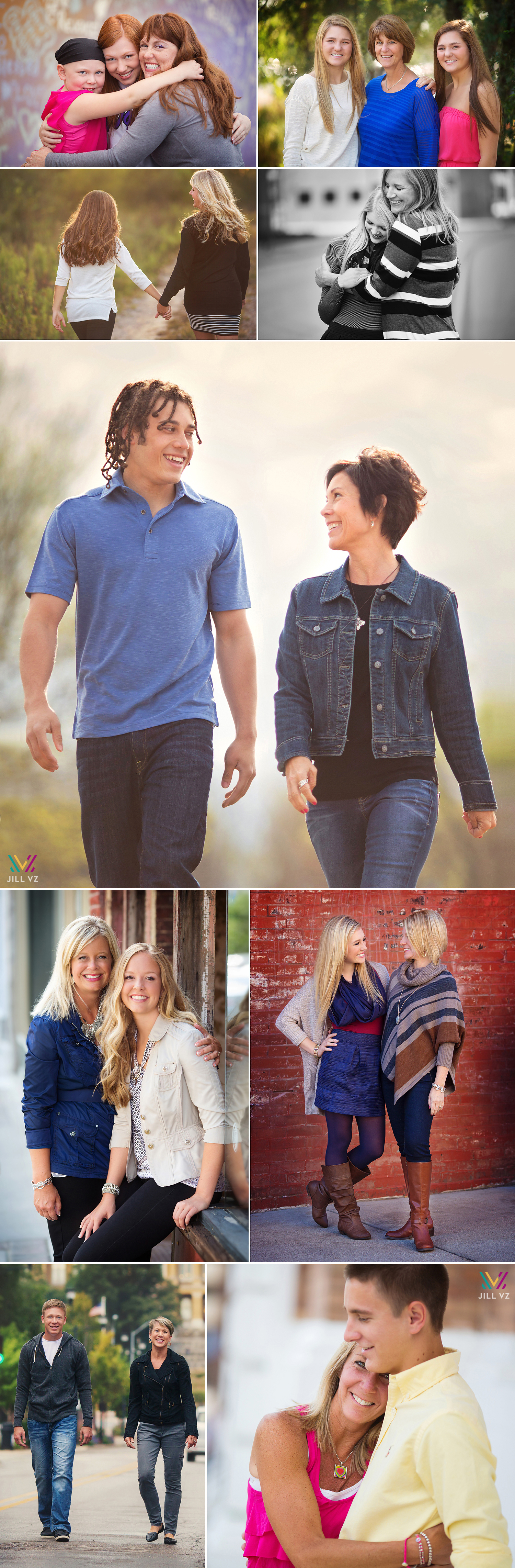 high school seniors with their moms des moines photography