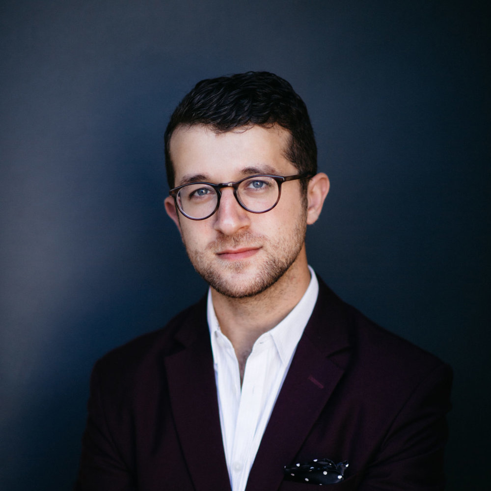Chad Goodman – conductor, founder, and artistic director of Elevate Ensemble.