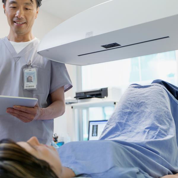 DEXA Bone Density Testing - This noninvasive test examines the bones for signs of weakening, or osteoporosis