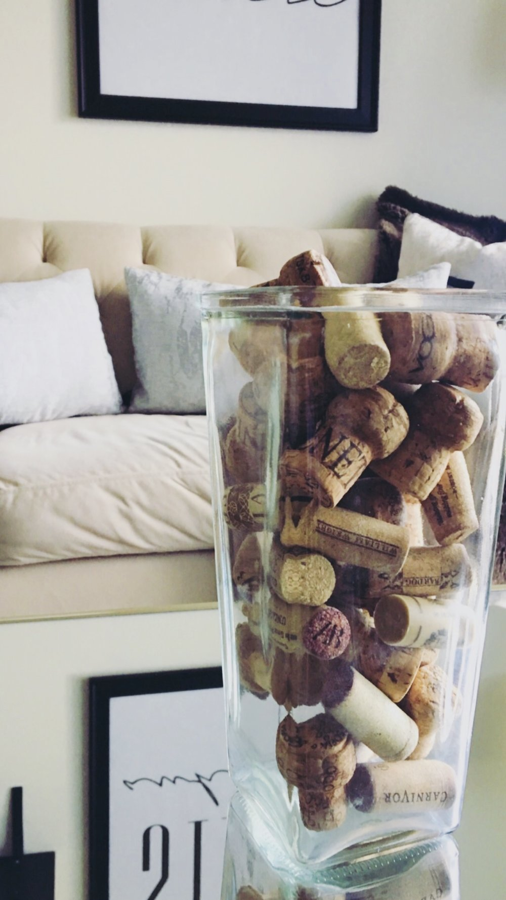 Corks in a jar… - Cute, easy, simple, perfect for the theme.