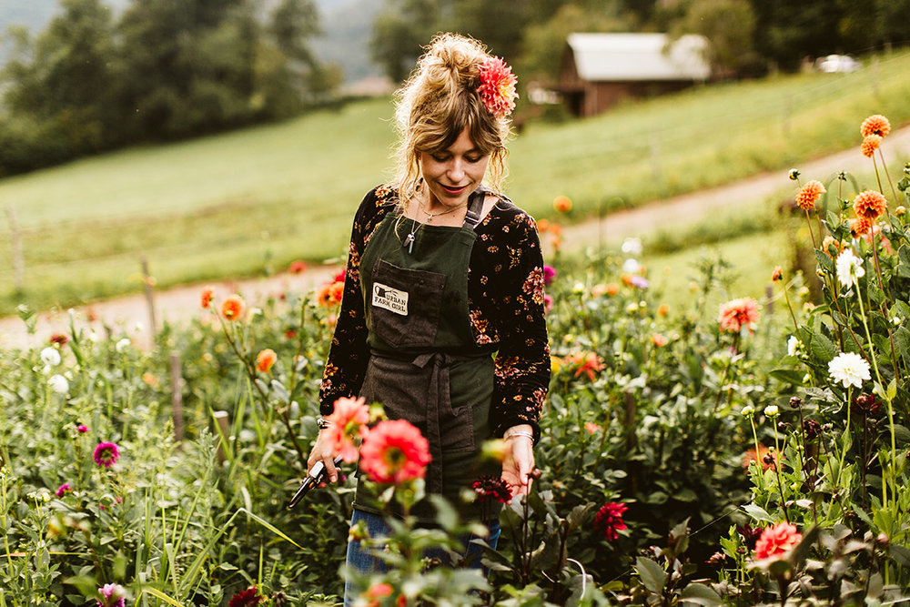 Urban Farm Girl Flowers grows their flowers locally and organically for in-season flowers that are fresh, beautiful, good for you and good for the planet. What we cannot grow on our own land, we source from other organic and sustainable flower farms.