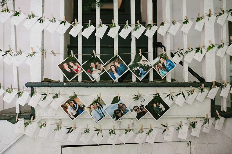Wedding Seating Chart Flowers