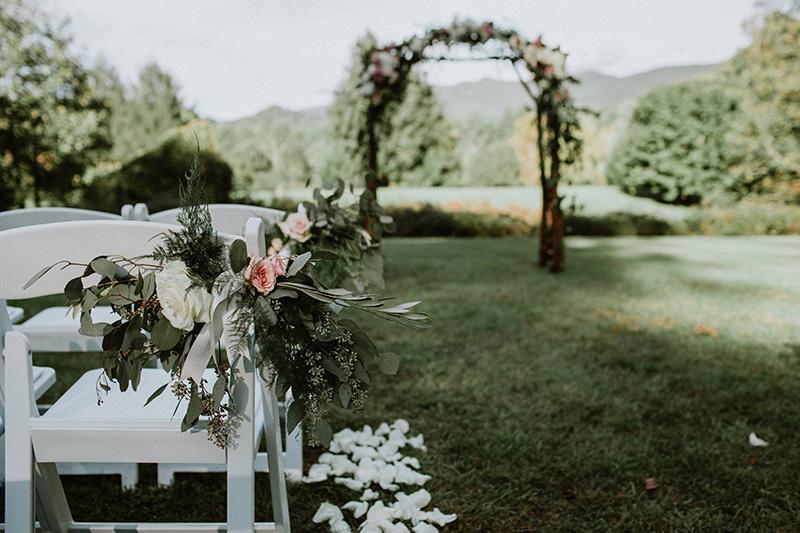 Wedding Ceremony Aisle Flowers