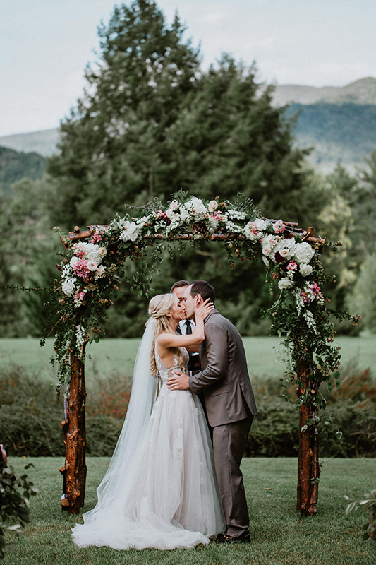 Wedding Ceremony Floral Arbor