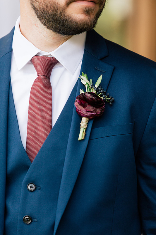 Groom Boutonniere Organic