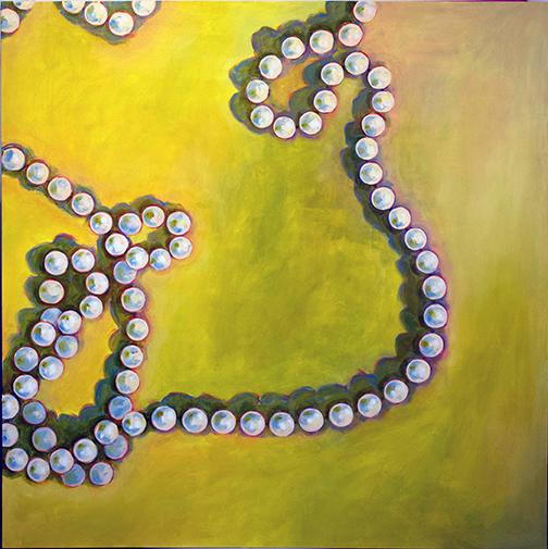 """La Perle 3, oil on canvas, 66"""" x 66"""", 2018"""