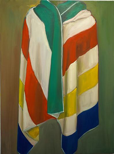 "Hudson's Bay Towel 2, oil on board, 48"" x 36"", 2018"