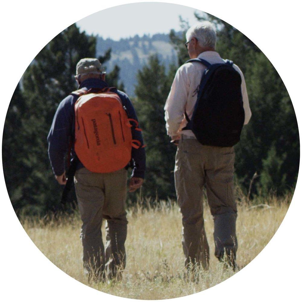 Yvon Chouinard , founder of  Patagonia , and  Craig Mathews , founder of  Blue Ribbon Flies .