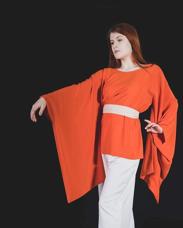 @idreamofshapes collection 'stay'. photographed by @s183_markhunt model @aja.jane. you can check out the full collection at idreamofshapes.com and available @farrahfloydbrussels @studio183 @bikiniberlin  #kimono #orange #independentdesigner #conceptstore #berlindesigner #brusselsfashion #berlinfashion #fashion #designer #style #handcrafted #shop #shooting #model #elegant #fashionshooting #shape #nowastedesign #sustainablefashion #instagood #instadaily