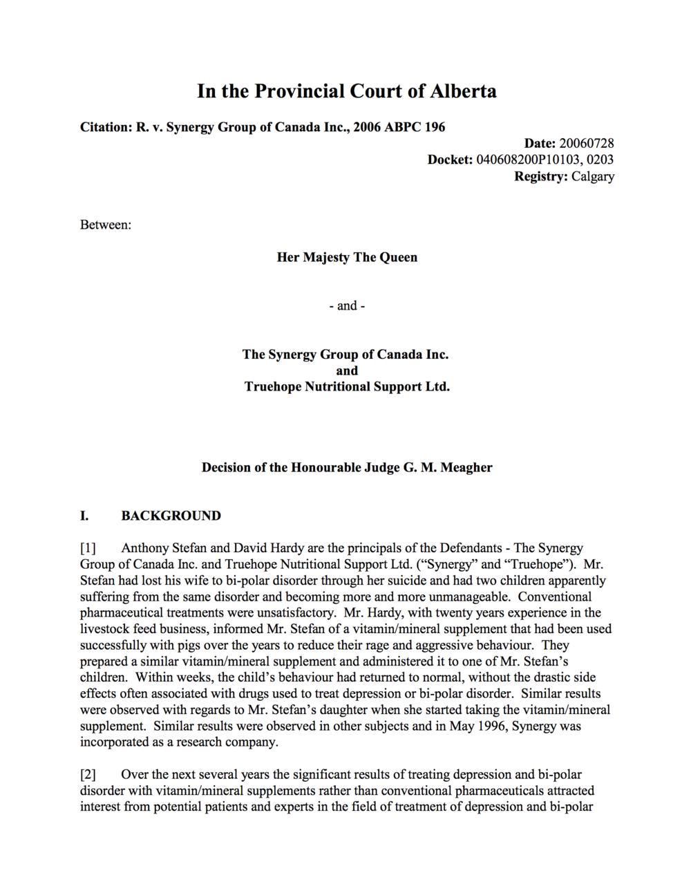 Health Canada (Crown) and True Hope - full written decision.png