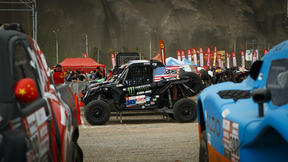 Casey's Can-Am Maverick X3 sits locked in Parc Ferme.
