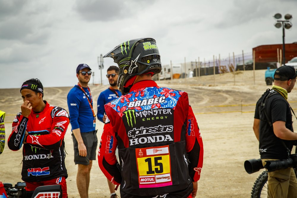 Fellow American and Monster Energy teammate Ricky Brabec finished 3rd on the day.