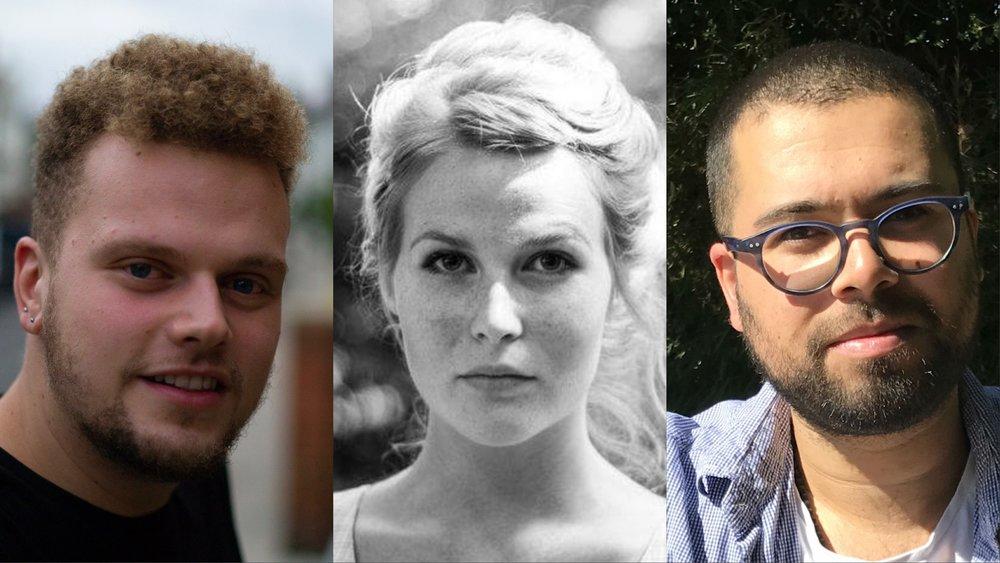 New Associate Artists Announced (L-R) - Jack Albert Cook, Hannah Bates & Marcus Bernard