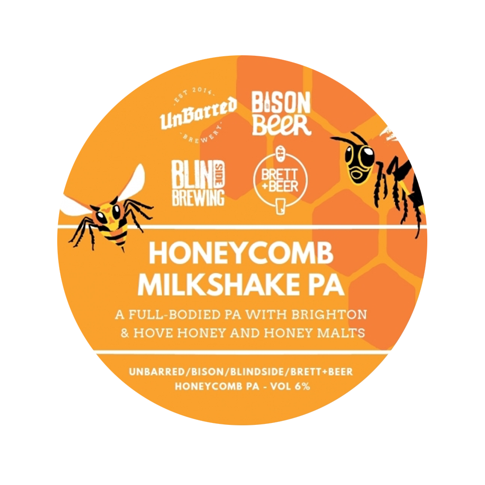 HONEYCOMB MILKSHAKE IPA - Silky Smooth Honey Infused IPA // 6%- SEASONAL COLLAB -