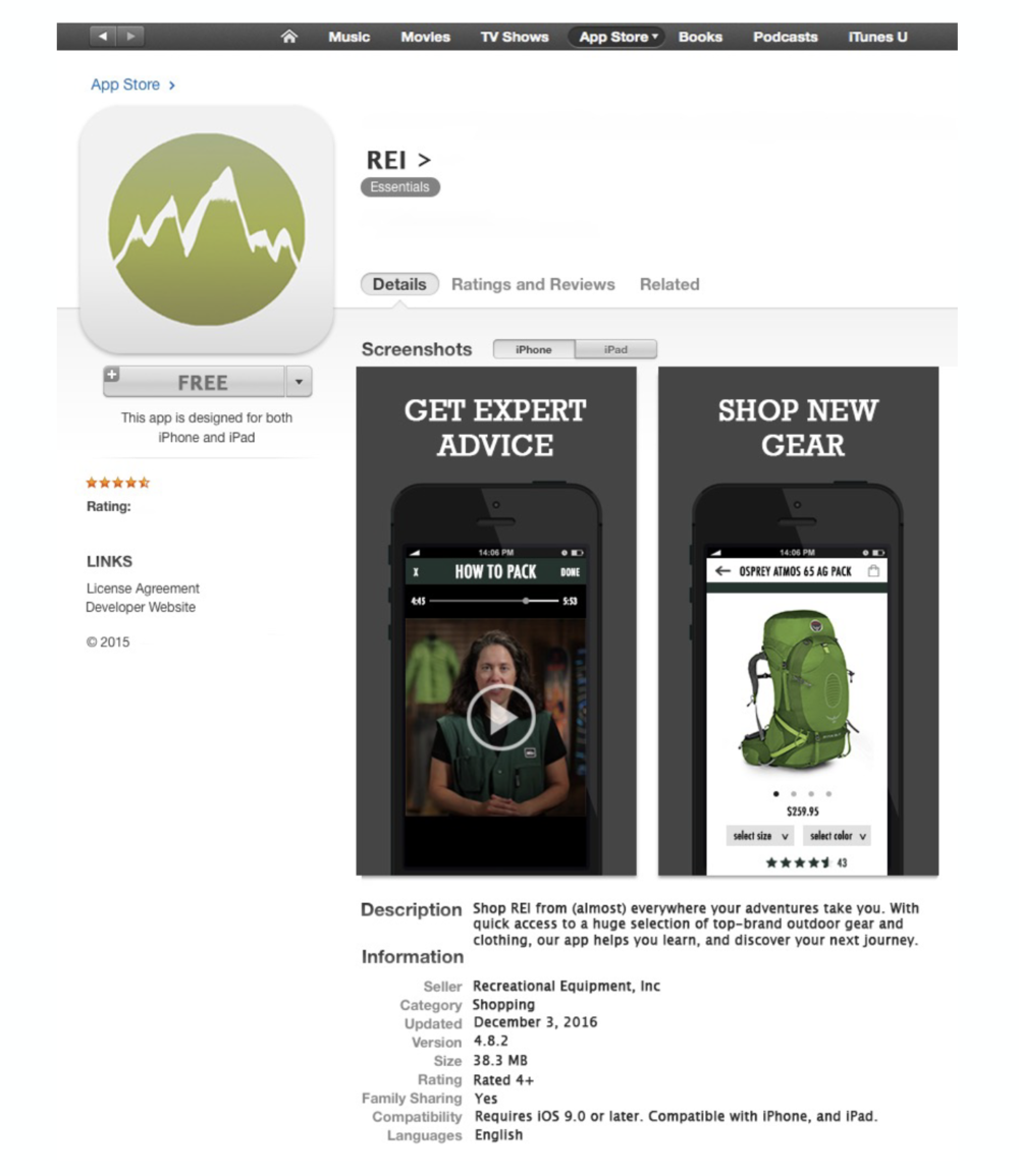 Go Green Project: REI — Kaitlyn Rassi