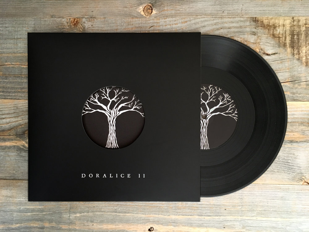 Front cover of Doralice LP with lasercut insert and album art