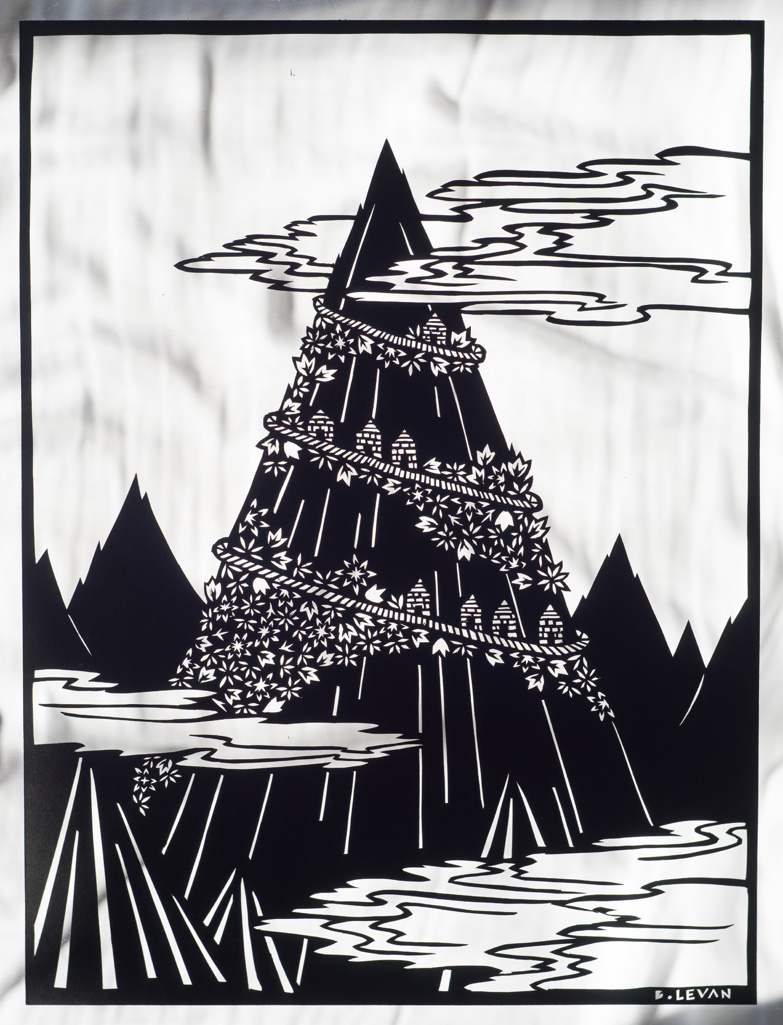 "Untitled Mountain - 9"" x 12"""