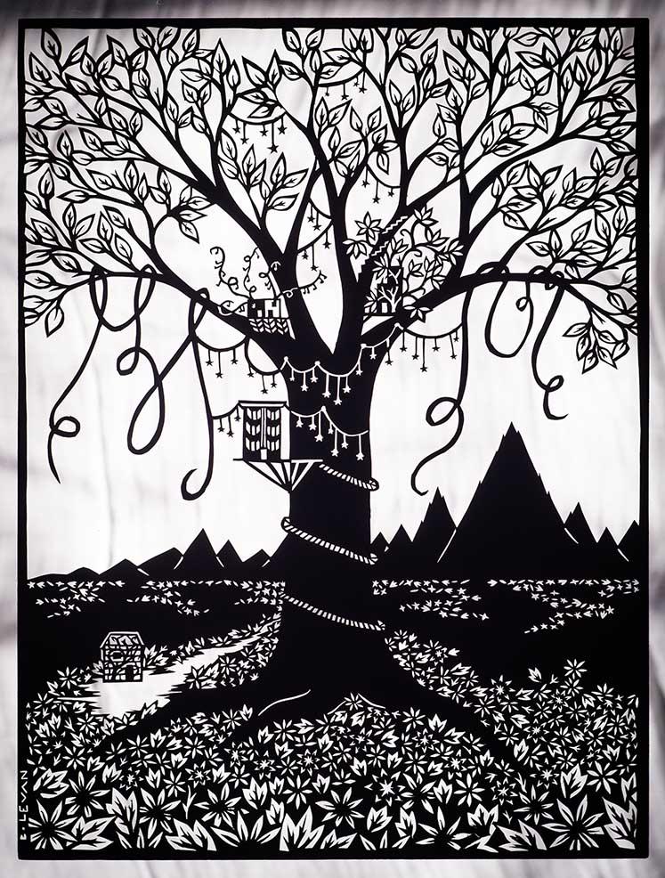 """Untitled Tree - 9"""" x 12"""""""