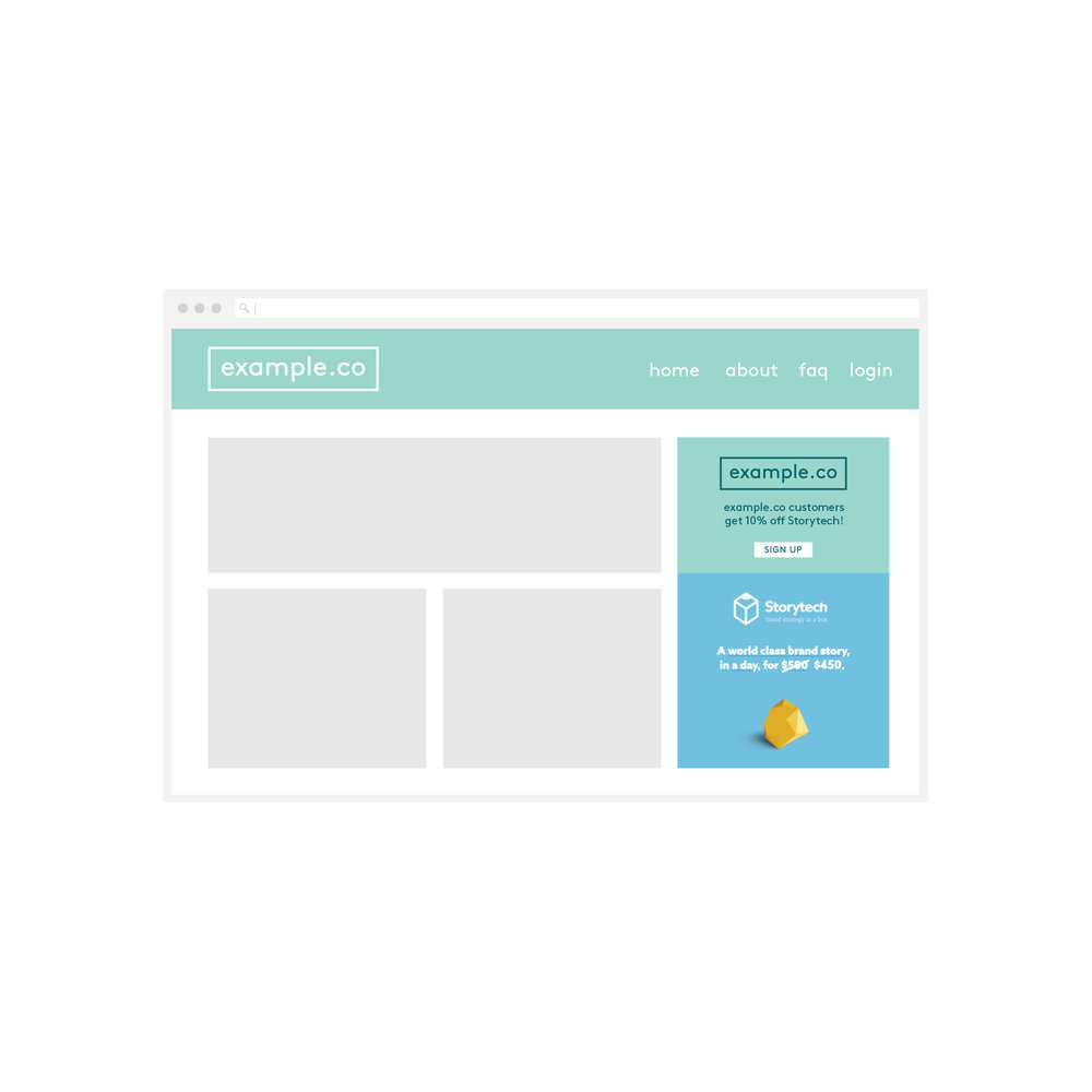 Regular ongoing promotion to your base over time - for example an ongoing feature on your website, a banner inside regular emails, or even in printed material.