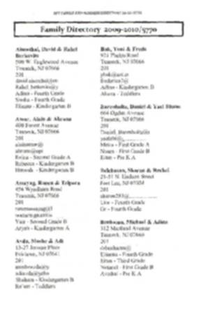 Ben Porat Directory, 2010