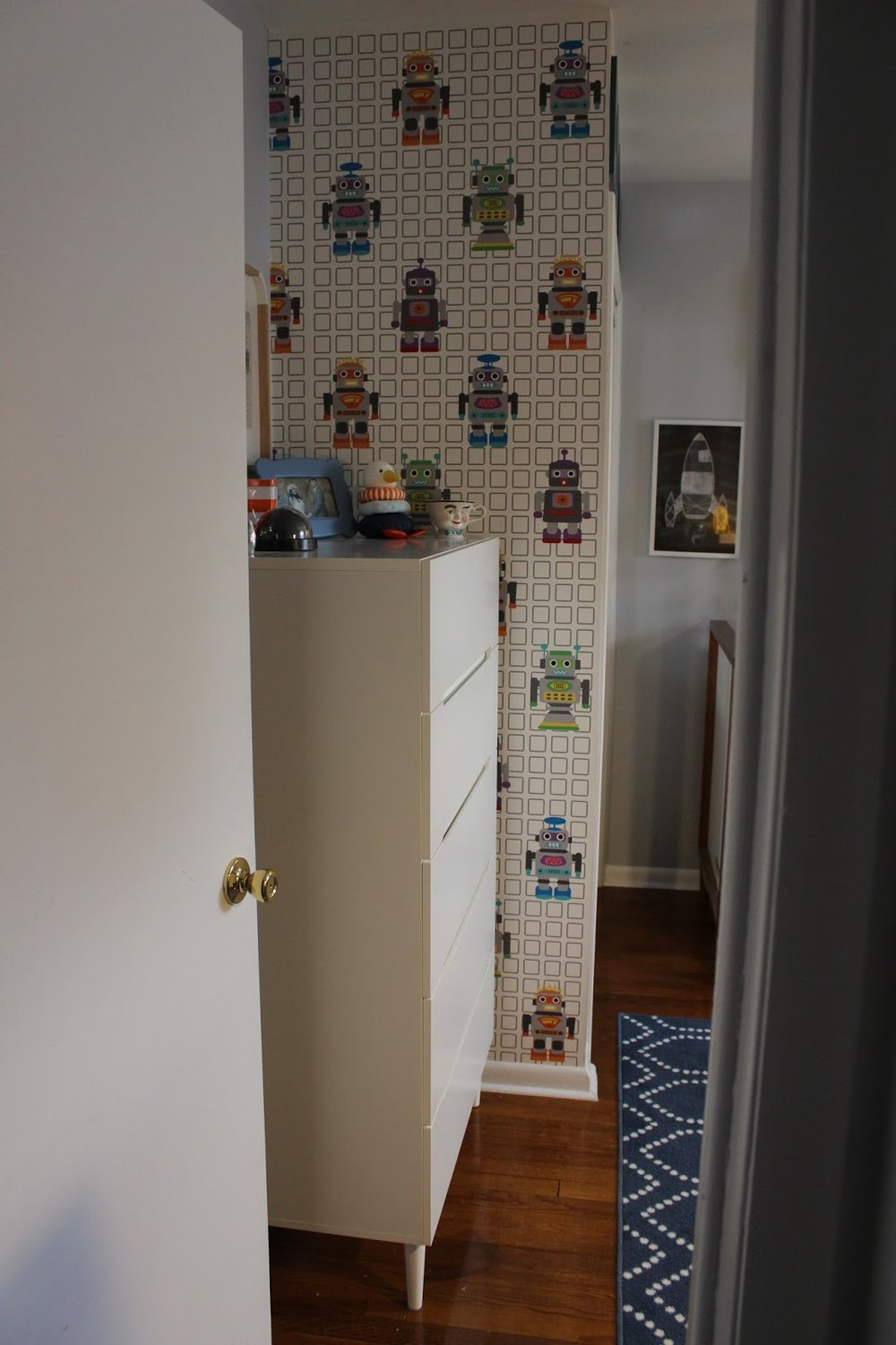 Wallpaper:   Robot by French Bull  (I purchased on Gilt)