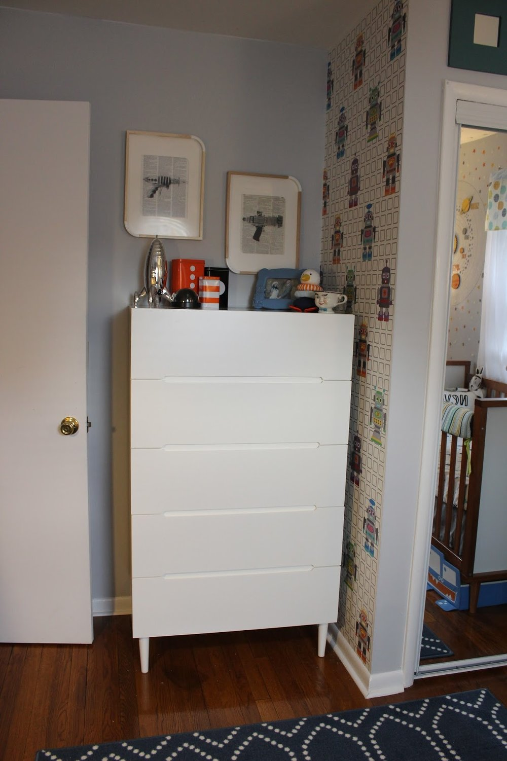 Dresser:  Ikea Sveio (discontinued--which sucks I love this thing!)