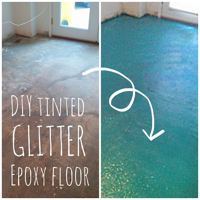 Diy Turquoise Glitter Epoxy Floor Tangled Events Styling