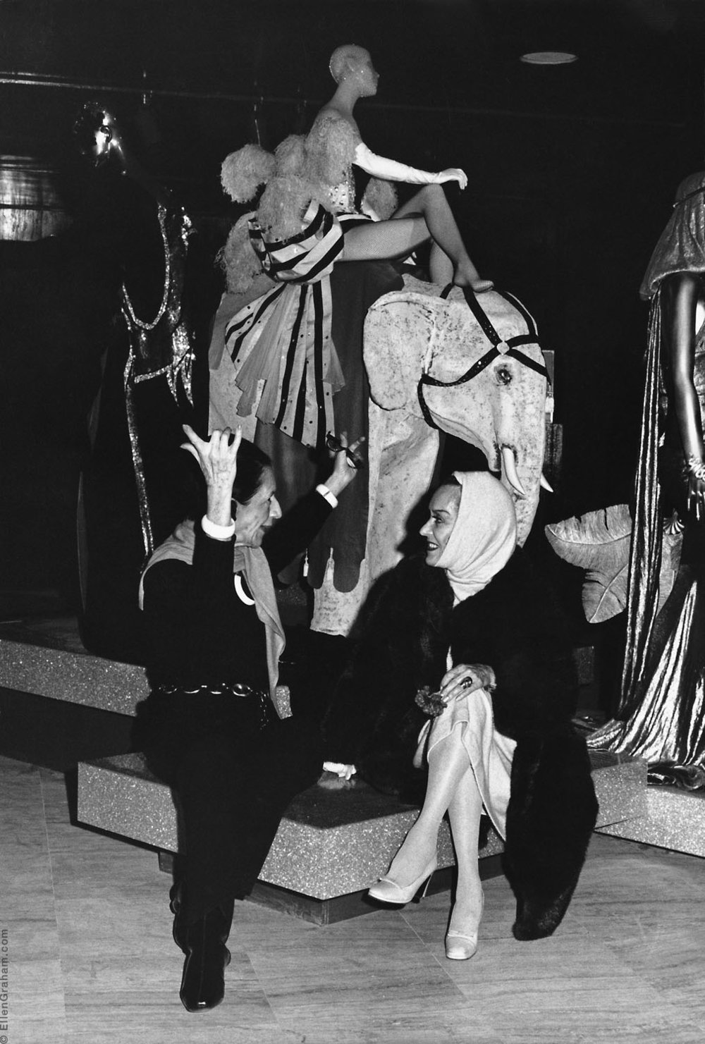 Diana Vreeland, Gloria Swanson, The Costume Institute, The Metropolitan Museum of Art, New York, NY, 1975