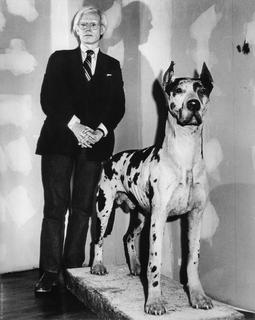 Andy Warhol With Stuffed Dog, The Factory, New York, NY, 1974