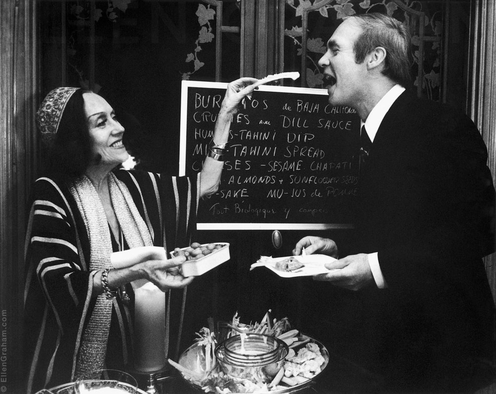 Gloria Swanson and Ian Graham, New York, NY, 1976, At Gloria's Wedding to William Duffy