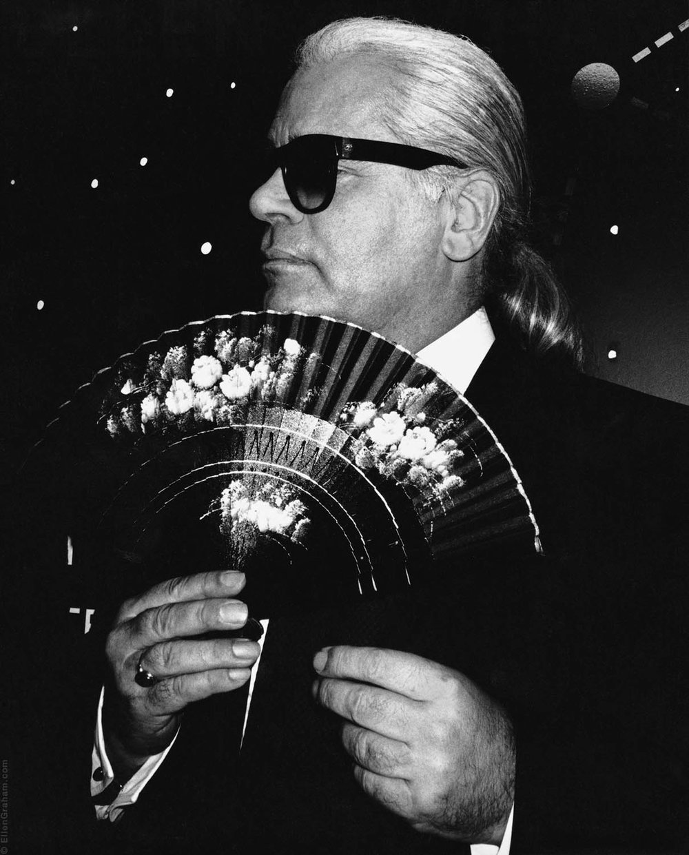 Karl Lagerfeld, Paris, France, 1995