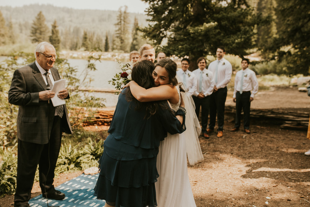 PNW Forest lake mountain wedding
