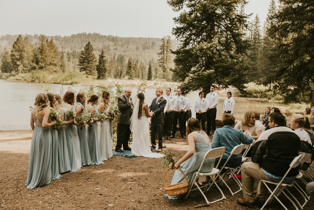 PNW mountain forest lake wedding