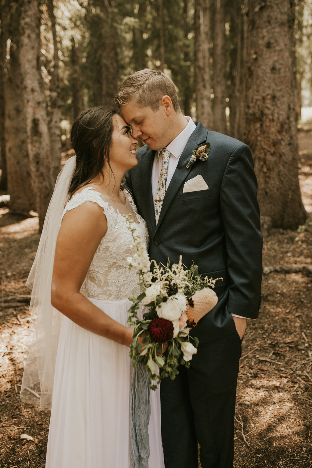 lakeside mountain elopement wedding