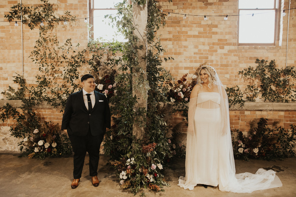 LGBTQ Industrial Warehouse Wedding