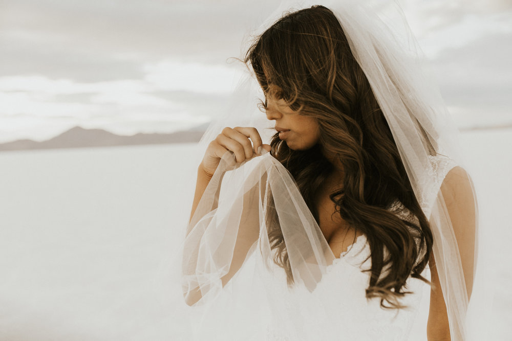 Salt flats elopement wedding