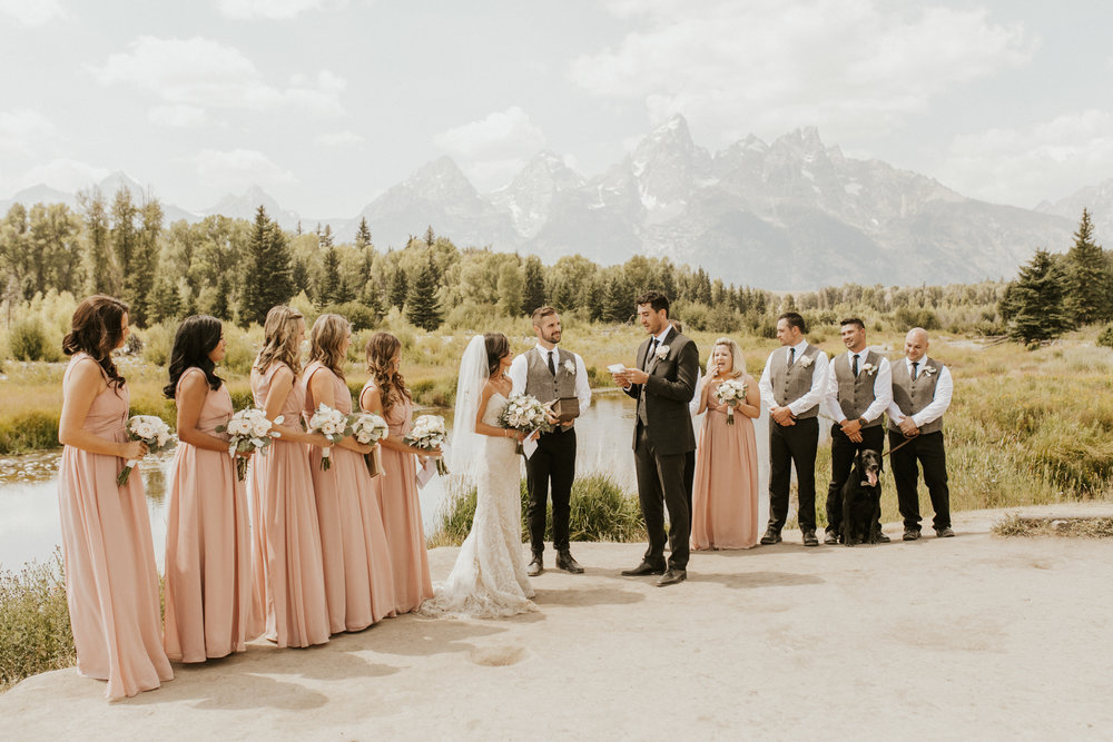 Schwabacher Landing Wyoming Elopement