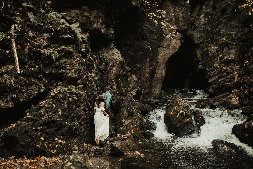 New York Waterfall Engagements