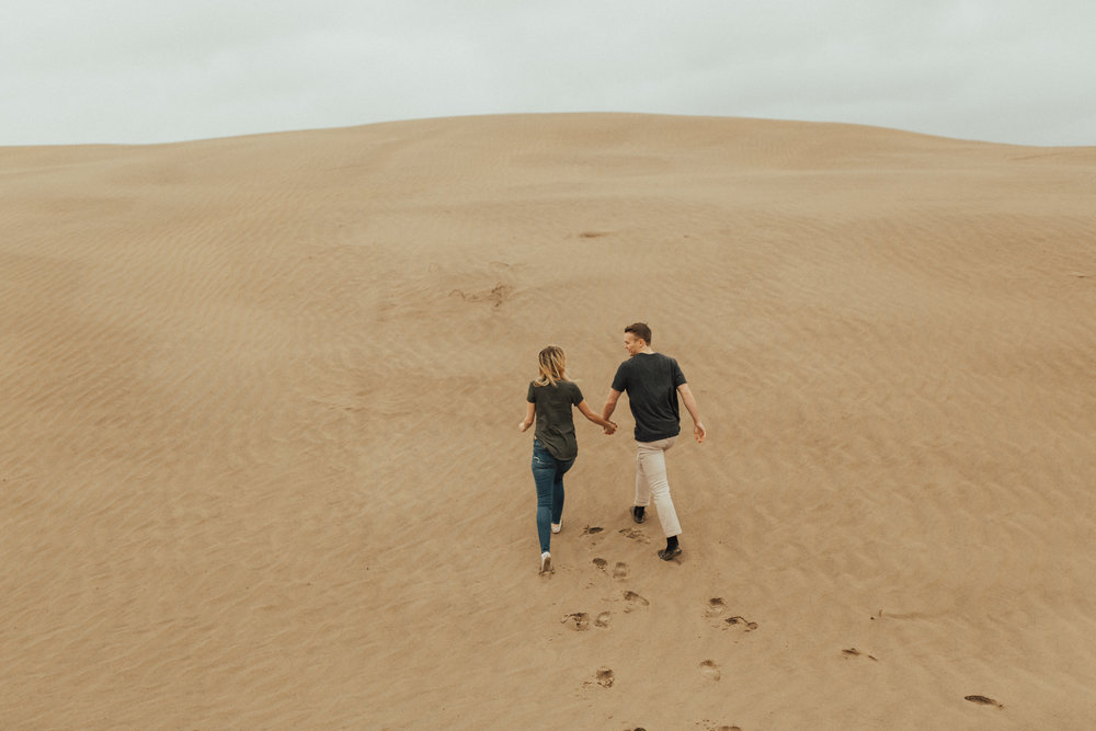 sand dune engagement photos