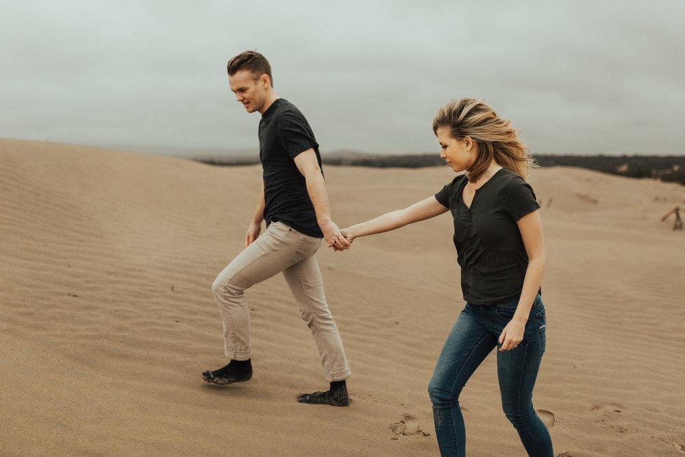 sand dune engagement session