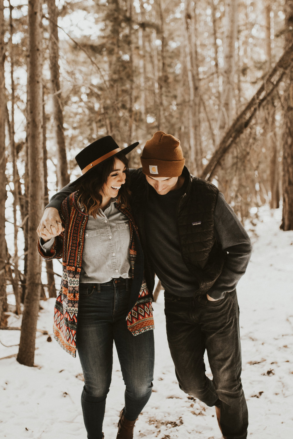 mountain winter engagement session