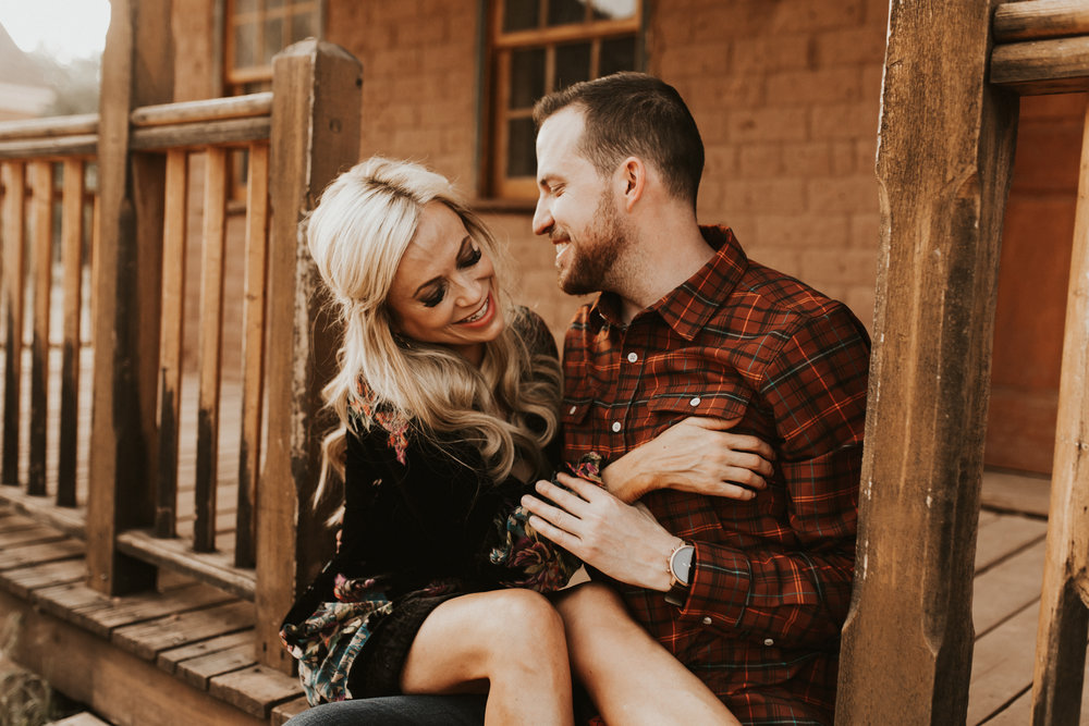 ghost town engagement session