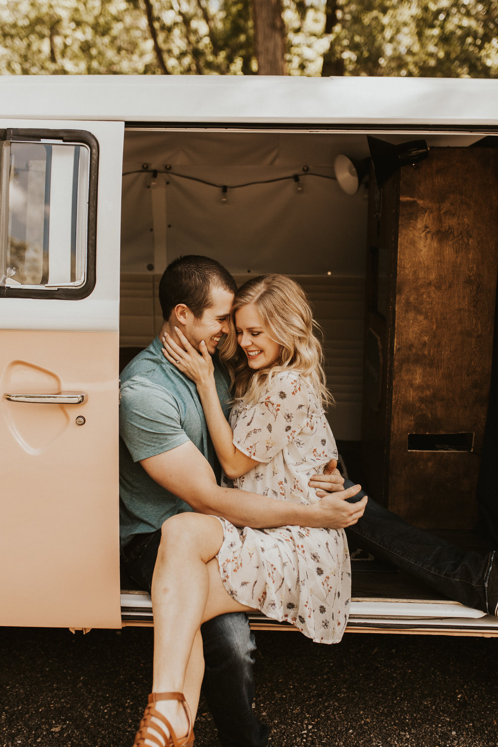 VW bus engagement session