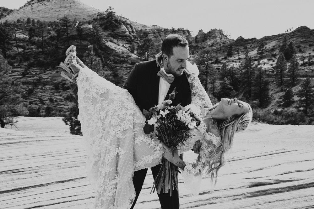 Zions national park bridal session
