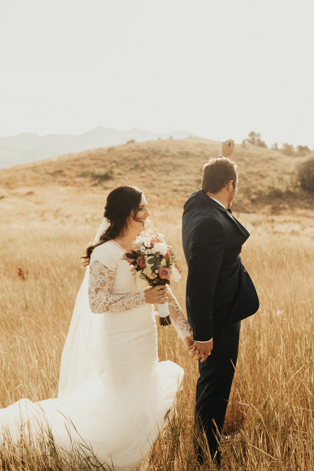 Sumer mountain bridal photos