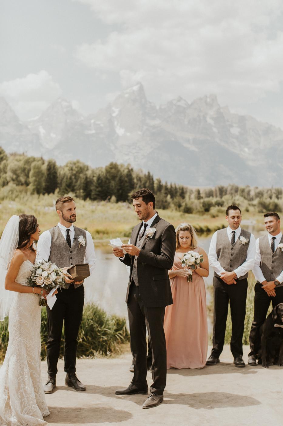 rustic mountain victor Idaho wedding